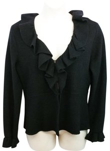 Kate Hill Black Wool Knit Jacket