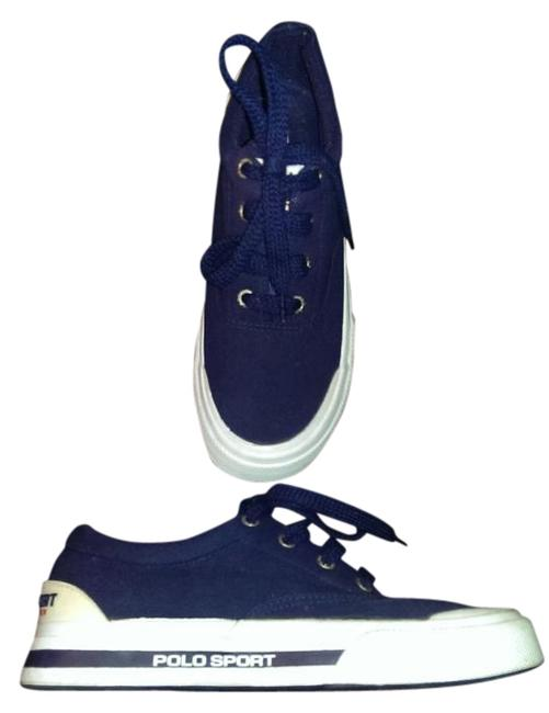 Item - Navy Blue and White New Sneakers Size US 8.5 Regular (M, B)