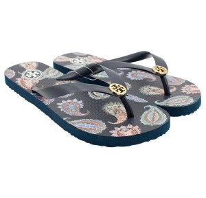 Tory Burch 90008691 Tory Navy/Dapper Paisley Sandals