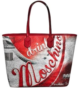Moschino Drink Tote in Red