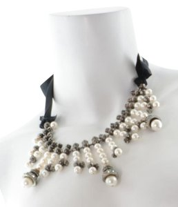 Lanvin Crystal/Pearl Necklace
