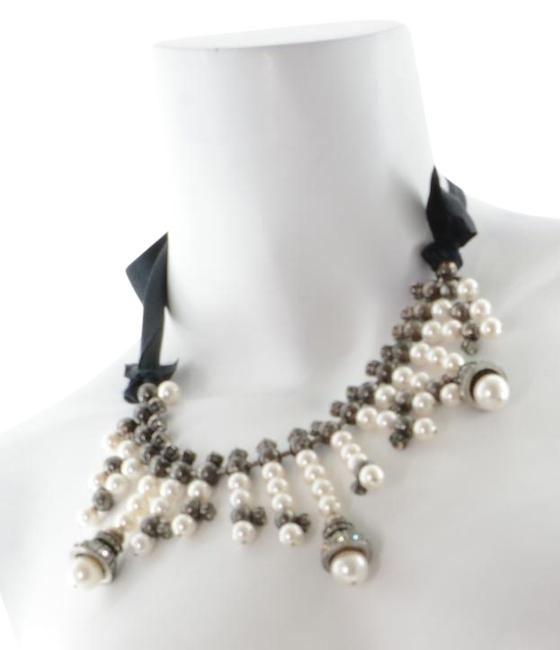 Item - Silver Crystal/Pearl Necklace