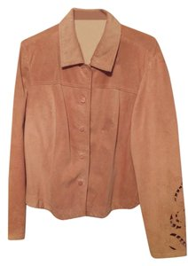 Coldwater Creek Leather Pink Leather Jacket