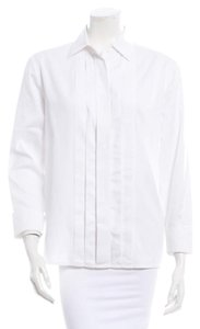 Chanel Button Down Shirt White Ivory