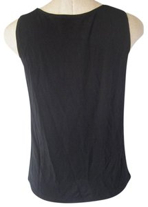 DKNY Sz M Sleeveless Top Black