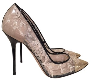 Jimmy Choo Toga Anouk Stiletto Patent Plastic nude Pumps