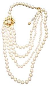 Kate Spade Dazzling Daisies and Pearls Necklace