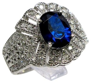 9.2.5 Final sale gorgeous huge blue sapphire royal cocktail ring size 8
