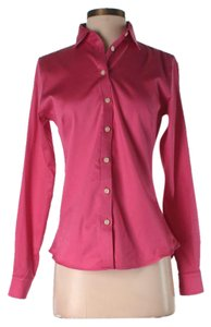 Banana Republic Cotton Button Down Shirt Pink