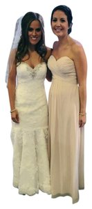 Bill Levkoff Beige Bill Lekoff Beige Nude Off White Bridesmaid Chiffon Dress Dress