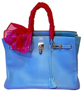 Hermès Birkin Birkin Handbags Satchel in Blue Jean