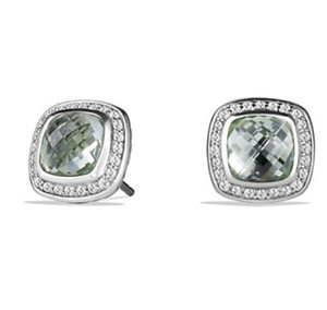 David Yurman Prasiolite and Diamond Albion Earrings