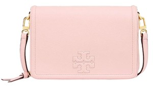 Tory Burch Leather Sweet Melon Clutch