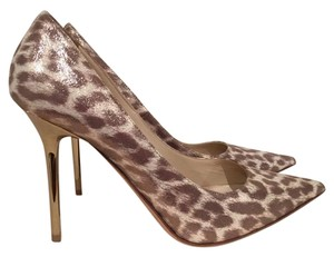 Jimmy Choo Abel Leopard Stiletto Anouk gold Pumps