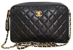 Chanel Vintage Camera Quilted Classic Turnlock Cross Body Bag