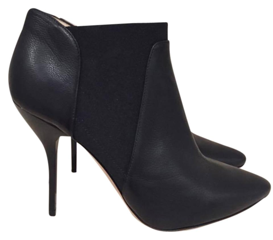 607c1302b600 Jimmy Choo Black Deluxe Grainy Calf Leather Short Ankle 40 Boots ...