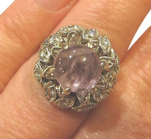 Other Solid 14k Gold 20 Diamonds Amethyst Ring, 6.52 grams.Free Shipping