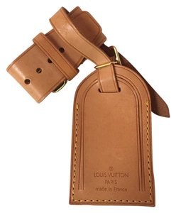 Louis Vuitton A84 Natural Luggage Name Tags Loop Belt Strap