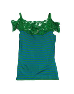 Emilio Pucci Green Blue Silk Top