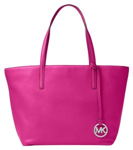 Michael Kors Satchel Tote in Fuschia silver