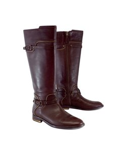 BCBGMAXAZRIA Chestnut Brown Leather Boots