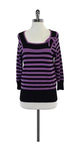 MILLY Black Stripe Sweater