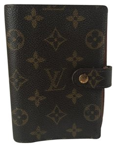 Louis Vuitton K197 Agenda PM Monogram Notebook cover Leather Wallet