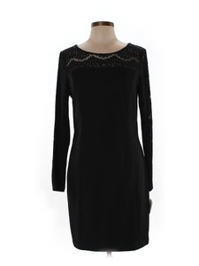 Jessica Simpson Shift Sheath Silhouette Lace Designer Spandex Dress