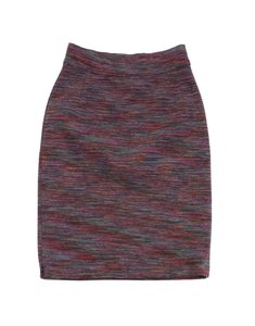 Missoni Multi Color Wool Knit Skirt