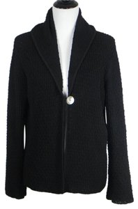 Margaret O'Leary Wool Stretchy Jacket Sweater Knit Cardigan