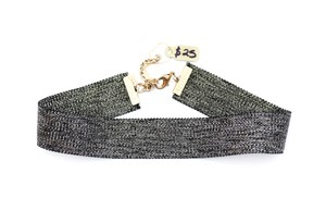 Goldish Black Choker Necklace