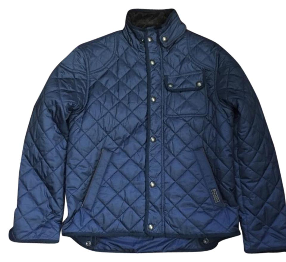 Polo Ralph Lauren Navy Mens Quilted Hunting Spring Jacket Size 8 M