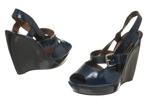 Marni Navy Wedges