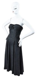 Gucci Wool Structured Bustier Fit Flare Strapless Dress