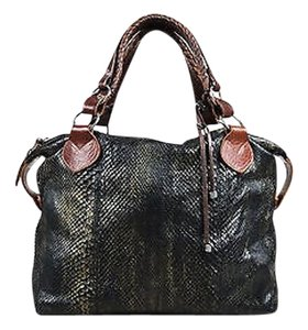 Other Sweeney Gunmetal Brown Python Overnight Satchel in Gray