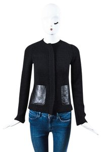 Vince Shw Woven Wool Black Jacket