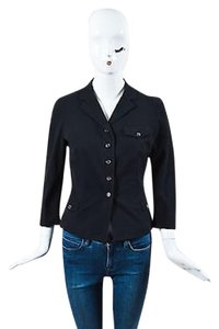 Prada Prada Black Button Down Long Sleeve Blazer