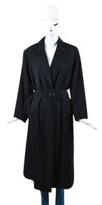 Chanel Boutique Wool Cc Buttons Belted Trench Trench Coat