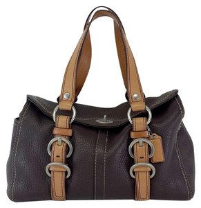 Coach Brown Tan Leather Hobo Bag