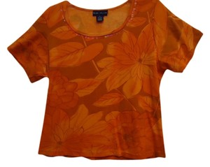 Blue Plate T Shirt Orange