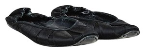 Bottega Veneta Satin Black Flats