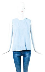 Equipment Femme Chambray Top Blue