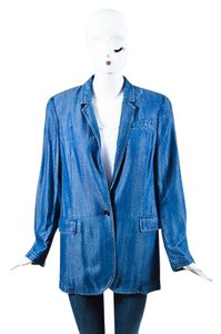 Gucci Gucci Blue Chambray Blazer Jacket