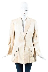 Versace Versace Nude Dyed Single Button Tuxedo Jacket