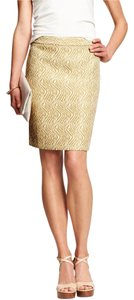 Banana Republic Pencil Zebra Skirt Light Gold / Ivory