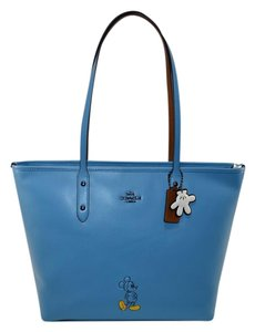 Coach City Mickey Mouse Tote in Dk/ Blue Jay