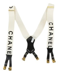 Chanel chanel white suspenders