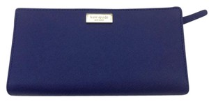 Kate Spade Newbury Lane Stacy Clutch Wallet Saffiano WLRU1601 Indigo