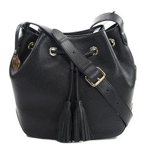 DKNY Ego Leather Drawstring Bucket Cross Body Bag