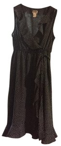 Motherhood Maternity Maternity black dress with polka dots.
